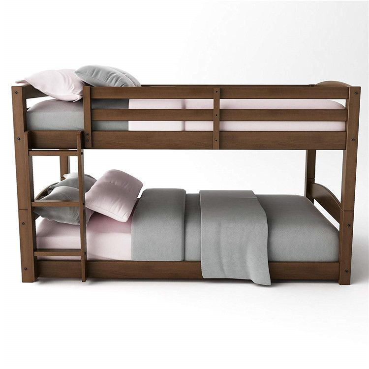Wooden Bedroom Furniture Two Layer Bed Design