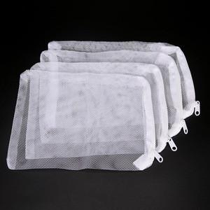 10pcs White Aquarium Mesh Bag Aquarium Pond Filter Net Bag For Bio Ball Carbon Media Ammonia Aquarium Fish Tank Isolation Bag