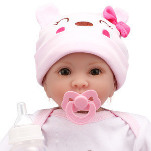 2019 hot selling cheap Silicone baby doll toys 22inch reborn baby dolls newborn baby dolls for new year gifts