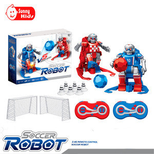 2019 New 2.4G Remote Control Soccer Robot With Battery Plastic Kids Interactive Electric Football Robot Toy SK139565