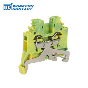 280-107 Spring Cage Screwless 2 Conductor Ground Terminal Block