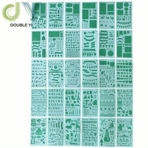 30pcs new plastic Bullet Journal Stencil for Journal/Notebook/Diary/Scrapbook