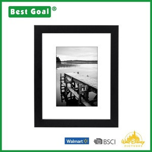 8x10 Black Picture Frame for Display Pictures 5x7 with Mat or 8x10 Without Mat