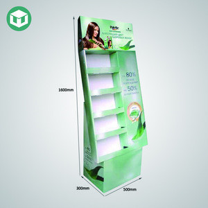 Advertising Cardboard Paper Display Stand for Facial Masks with Side Panel
