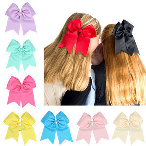 Baby Large Grosgrain Ribbon Cheer Hair Bows Cheerleader Bows