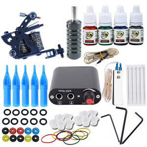 Cheap Full Tattoo Machine Kit For Beginners Coil Tatoo Professional Gun Set For Sale And Power Supply Maquina De Tatuaje