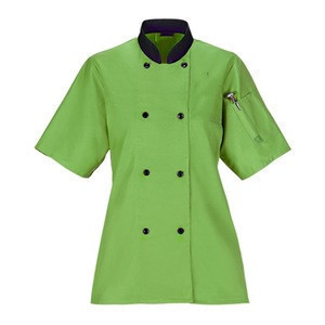 Chef uniform restaurant apparel in poly cotton fabric executive chef coat whole sale price