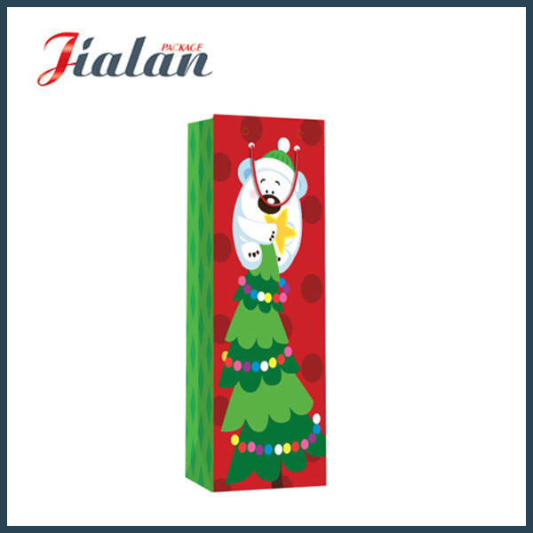 Christmas Wine Bottle Gift Packaging Paper Shopping Carrier Gift Bags