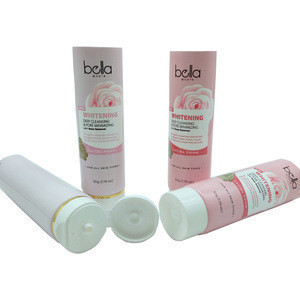 Cosmetic Soft Plastic Container Face Wash Packaging Tube 100ml,Face Wash Packaging Cosmetic Plastic Tube