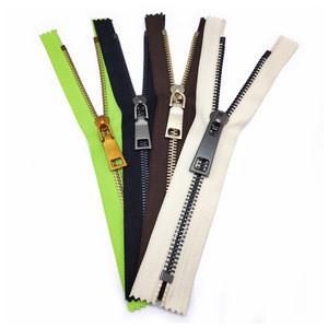 Custom metal zipper puller metal zipper for bags garment