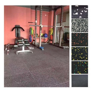 E-environment Gym rubber  flooring rolls used power area under dumbbell mats