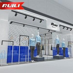 Fashion Garment Women Clothing Shop Decoration Store Furniture Clothes Display Showcase