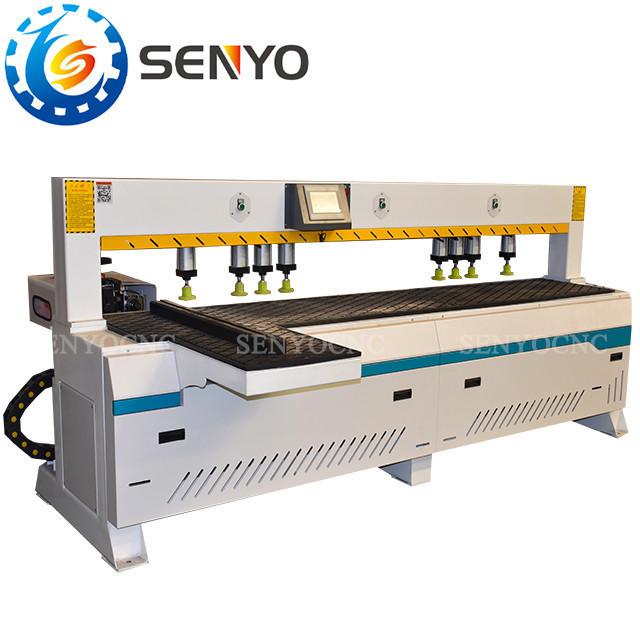 High Precisions Penumatic Automatic Wood Cutting Multi Side Hole Drilling Machine