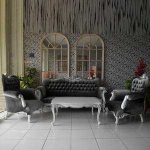 Home Furniture - Living Room Wooden Furniture Sofa Set