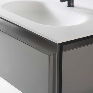 Hot products to sell online Bathroom solid surface wash basin designs with cabinet