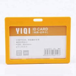 Hot Sale Horizontal Plastic Lanyard Hard ID IC Card Badge Holder