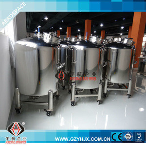 Hot sale stainless steel 304/316L storage tanks with agitator, handle and wheels