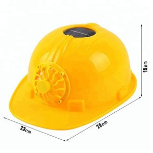Industrial safety helmet with solar fan for construction