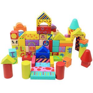 Kids Puzzle Wooden Building Block Castle kids toys educational
