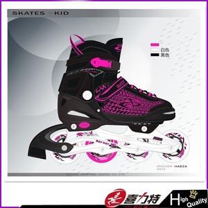 Kids Size Adjustable Inline Skates Flashing Roller Skates