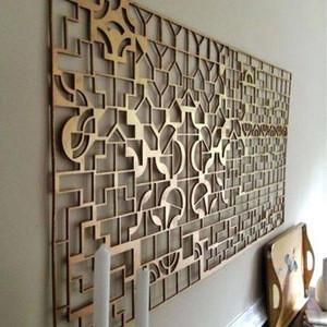 Laser cut modern metal wall panels art siding