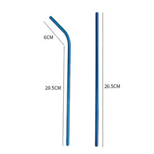 Long 265mm Metal Straws Stainless Steel 6mm Bar Accessories