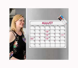 Magnetic refrigerator weekly calendar