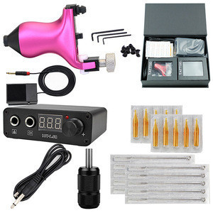 New Arrival Rotary Tattoo Machine Professional Tattoo Kit  Tattoo Gun with Needle Cartridges  for Beginner