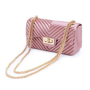 New Small Jelly Chain Handbags Ladies PVC Shoulder Messenger Bag For Wholesale