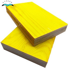 Pine core 3 ply shuttering panel /SHANGHAI QINGE LEONKING form work boards /leonking  formwork panels for building