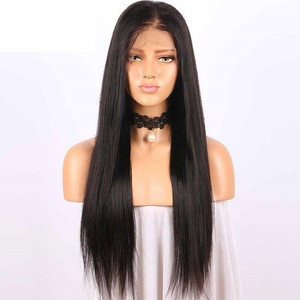 Pre Plucked Lace Front Wigs With Baby Hair 150% Density Peruvian Straight Human Hair Wigs