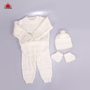 Spring/autumn Season Hot Sale 100% Acrylic Factory Supply Baby Sweater Set baby clothes