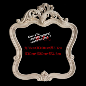 Unfinished hand carved antique wooden mirror frames