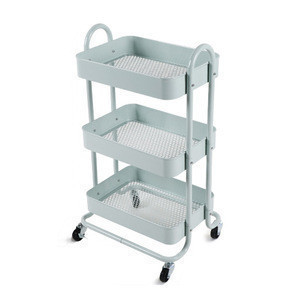 Wholesale modern cheap metal rolling salon kitchen trolley cart