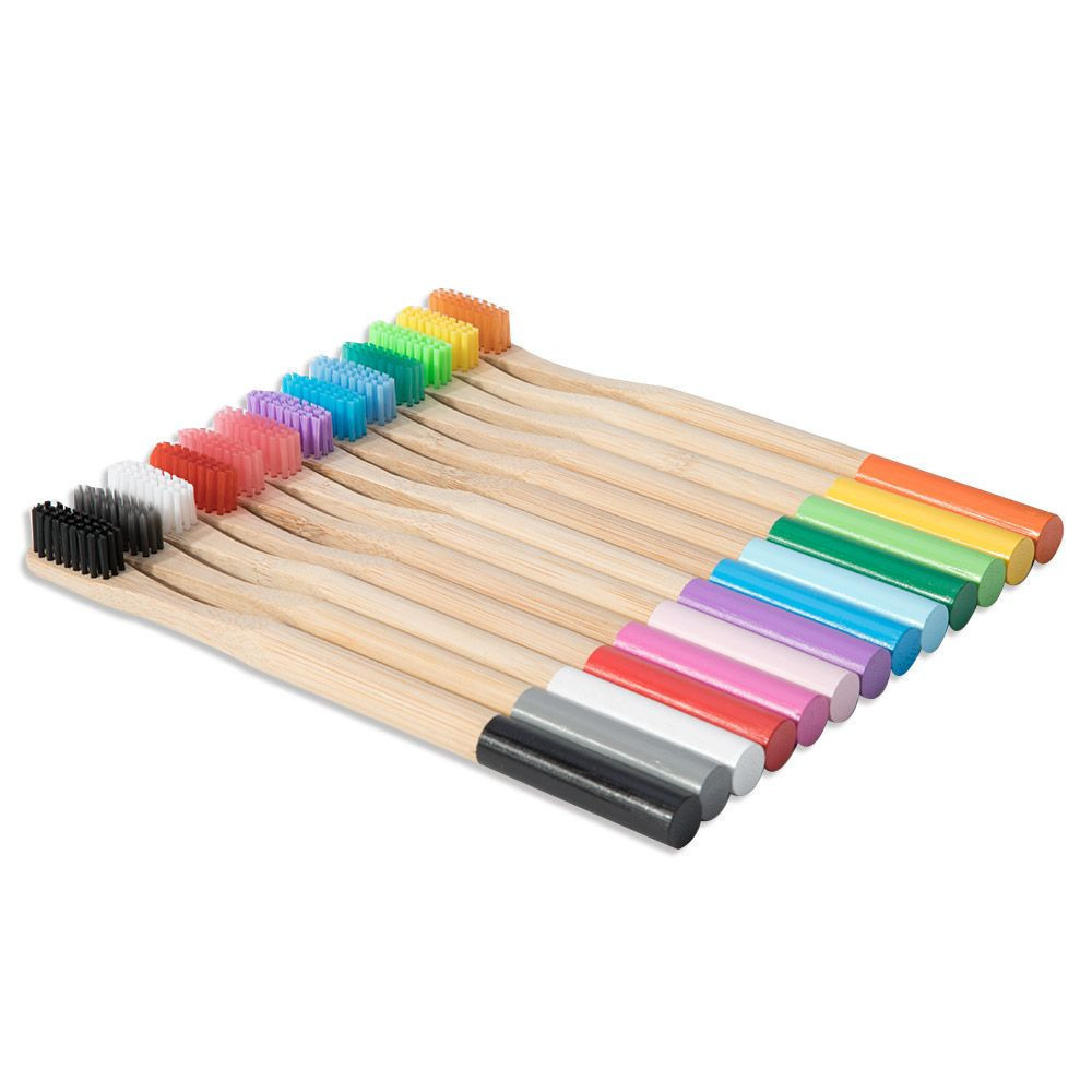 Multiple Coloured Bamboo Toothbrush