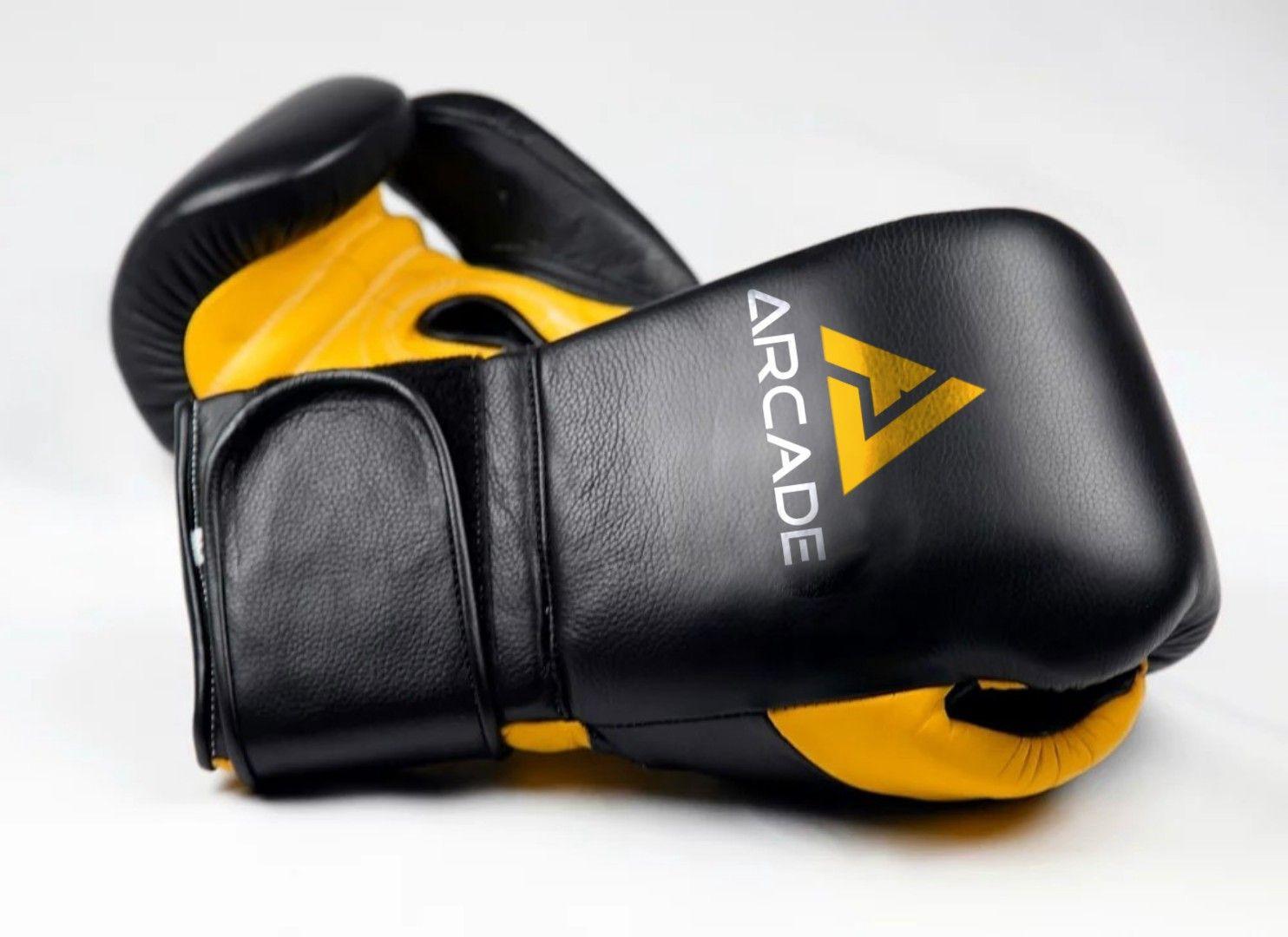 Arcade Boxing Gloves 14 oz black / Yellow