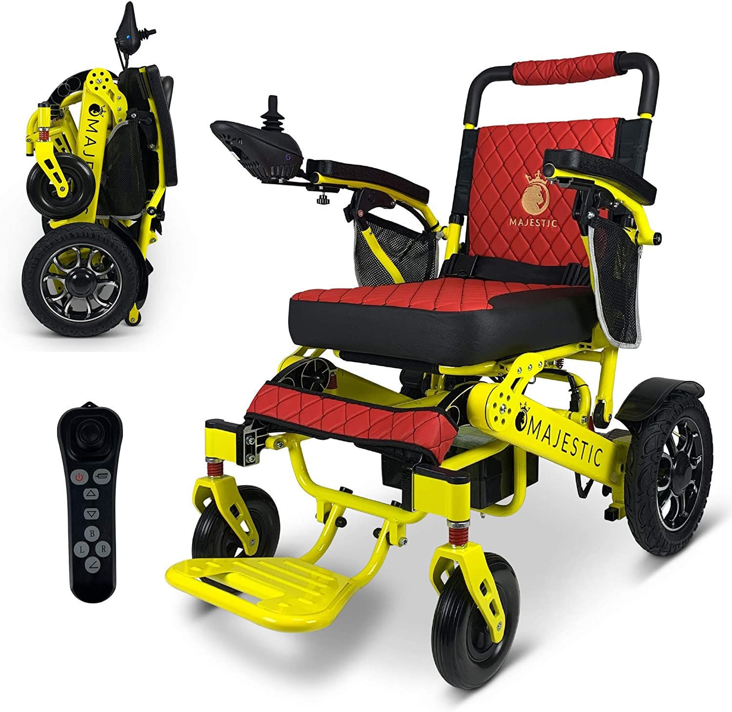 2020 Limited Edition Remote Control Foldable Electric Wheelchair Mobility Aid Lightweight Motorized Power Wheelchairs