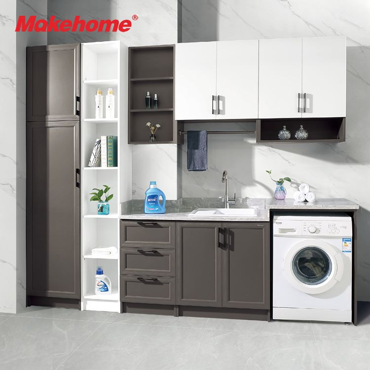High Quality Aluminum Laundry Cabinet, Wash room Storage Cabinet