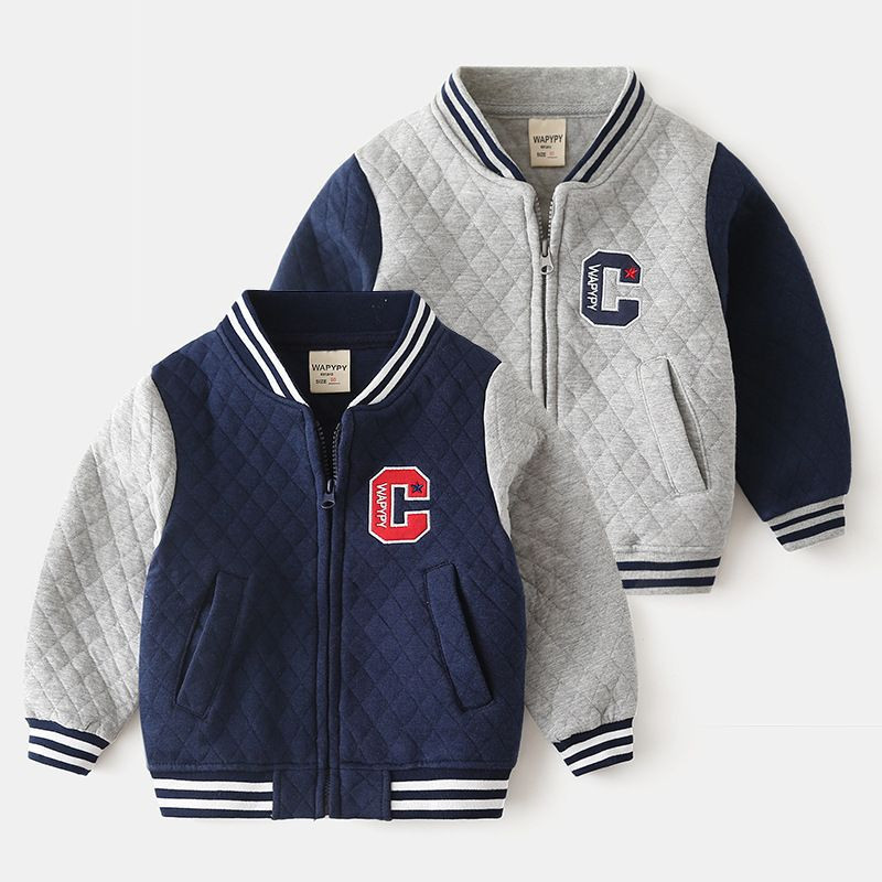 Baby Boys Clothes Jacket Leather Spring Autumn Letter Boys Outwear For Children Kids Boys Coats Baseball Sweatershirt for 2-7T