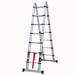 14 ft. Safety Aluminum Multi-Purpose Extension Ladder Load Capacity  16kg Type IA Duty Rating