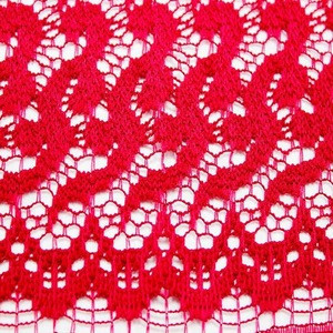 2018 red bales brocade lace fabric wedding dress fabric quirky design