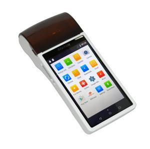 All in one android mobile pos terminal with touch screen GPRS bluetooth WIFI barcode and QRcode scanner receipt Printer