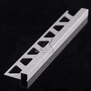 Aluminum Matel Tile Accessories Aluminium Corner Tile Trim Profile