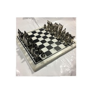 Chess piece set with Stone Board and Metal Player