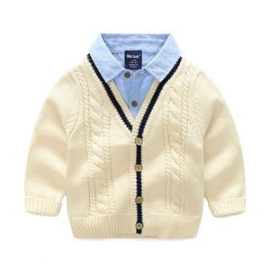 Children Clothing Manufacturers China Detachable Collar Baby Pullover Sweater Design