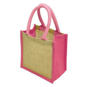 Custom Eco Friendly Laminated Jute Bag Burlap Reusable Grocery Bag Linen Hessian Shopping Tote Bags With Custom Printed Logo