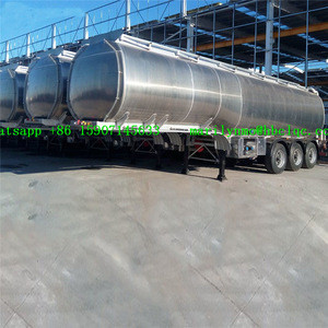 DALI Quality Oil Tank Truck Trailer 40000 Liters Aluminum Tanker 3 Axle Fuel Tank Semi Trailer
