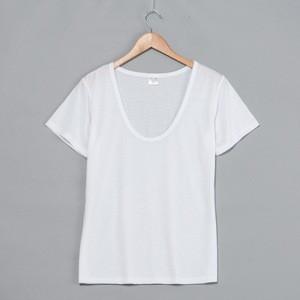 Deep scoop Neck Women T Shirts