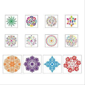 DMO Reusable  20cm PET Painting Template Decor Plastic 4pcs per set Mandala Art Stencils