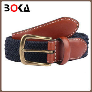 Fashion red pu belt with pin buckle for lady popular design leather belt